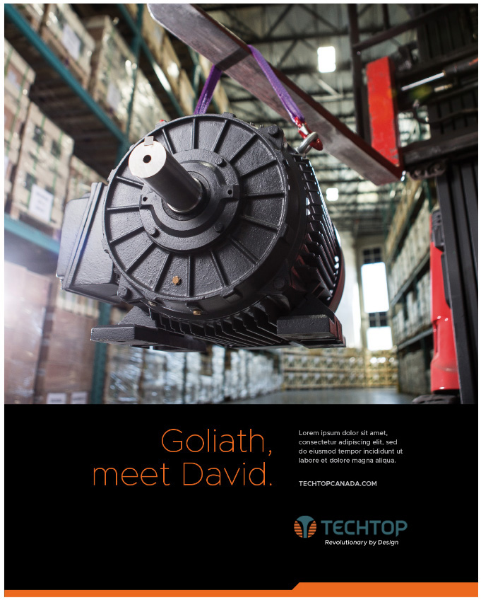 Goliath meets David motor graphic